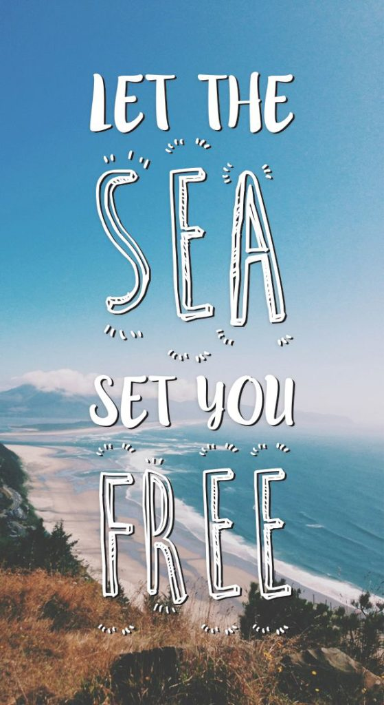 Let The Sea Set You Free. Sitting out there on the board